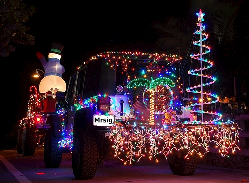 to see more x mas photos go to httpwwwaaofusjeephtm - Jeep Christmas Decorations