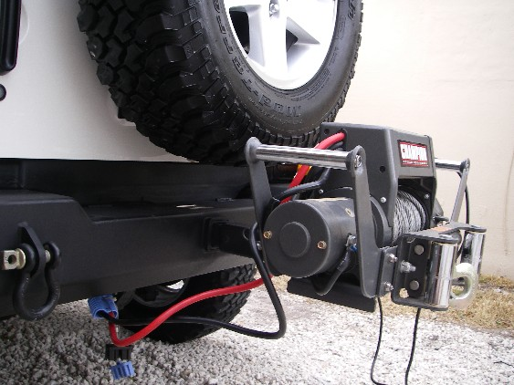 Receiver hitch mounted winch JeepForumcom